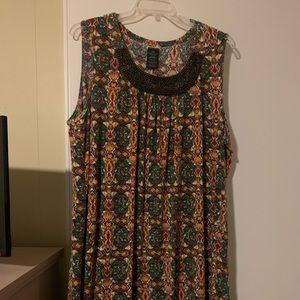 Faded Glory bohemian aboveknee dress w/beaded neck